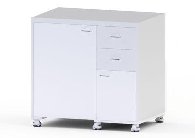 stół drewniany - otworzony