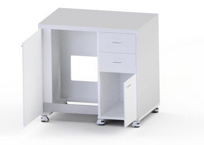 stół drewniany otworzony